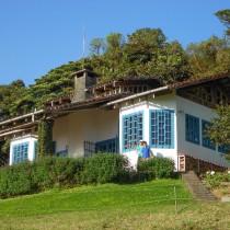 Die Lodge mit Gästen