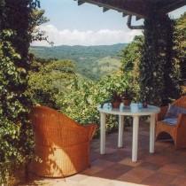 Terrasse der Lodge